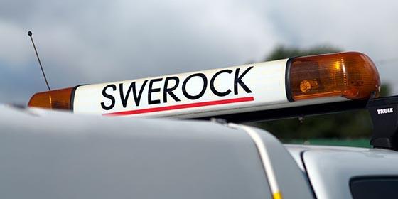 Swerock Skylt Lastbil